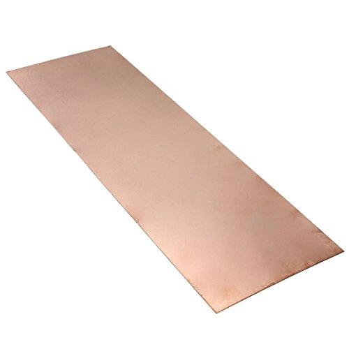 TOOGOO (R) 1 Stueck Kupfer Blatt 0.5mm * 300mm * 100mm reine Kupferfolie Folie
