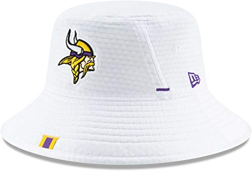 New Era - NFL Minnesota Vikings On Field 2019 Training Bucket Hat Hut - Weiß Größe One Size