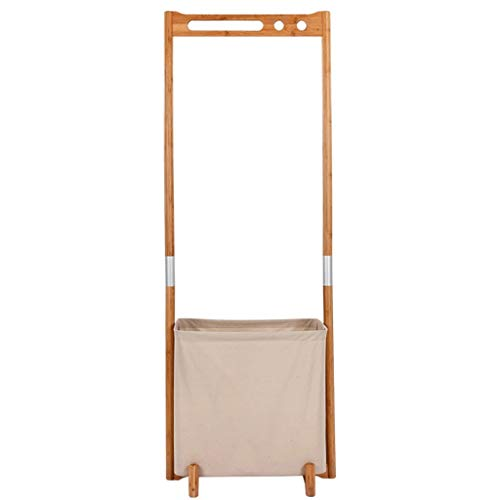 Garderobenständer Kleiderständer aus massivem Holz auf dem Boden stehender Kleiderbügel kreativer schmutziger Kleidungskorb einfache Moderne Aufhänger