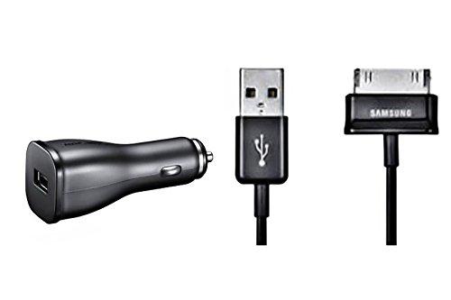 Original Samsung KFZ Ladekabel - ECA-P10C - 12 - 24 Volt - 2 Ampere - für kompatible Samsung Galaxy Tab Modelle mit 30 Pin Anschluss – (Bulkverpackung)