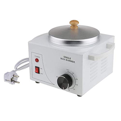 TOOGOO Single Pot Metallique Machine Chauffe-cire Electrique Epilation Paraffine Chaude pour Salon Professionnel - EU Prise