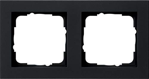 Gira 021209 Abdeckrahmen 2f E2 schwarz matt, att (Att Hinweis)