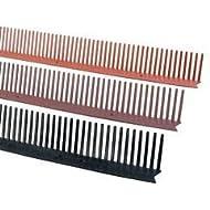 Traufenlüftungskamm - Universal Kunststoff | Abmessung: H/B 100mm x 1m | Farbe: schwarz
