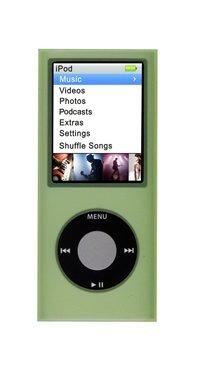 Logic3Silikon Hülle für iPod Nano 4. Generation-Grün - Grün Case Ipod 4