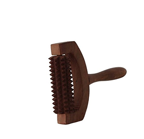 A K Handicrafts Store Export Quality Wooden Roller Foot Massager for Body Stress Acupressure Feet Care for Both Legs at a time, Stress Buster