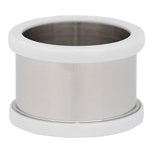 iXXXi BASISRING silber KERAMIK WEIß - 12 mm Größe 21 -