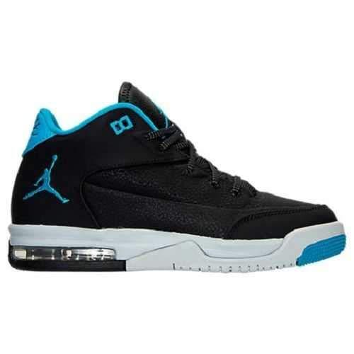 Nike Jungen Jordan Flight Origin 3 bg Basketballschuhe Black (schwarz/Blaue Lagune-reines Platin), 35.5 EU (Jungen Origin-schuhe Jordan Flight)