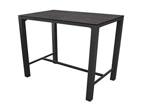 Proloisirs Table Mange-Debout Stonéo - 140 cm - 4 à 6 Personnes - Gris/Brun