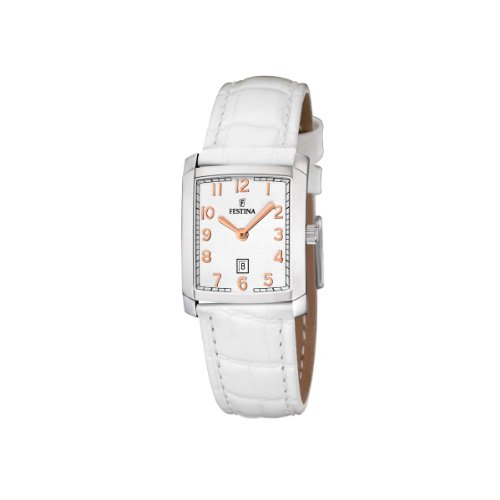 Festina Damen-Armbanduhr XS Klassik Analog Quarz Leder F16513/5