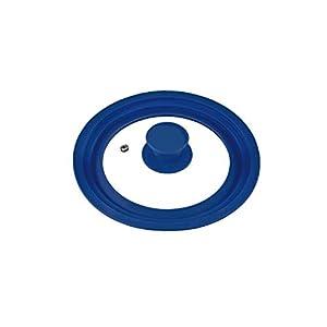 bremermann® Universal-Glasdeckel mit Silikonrand, 16/18/20 cm, klein (Blau)