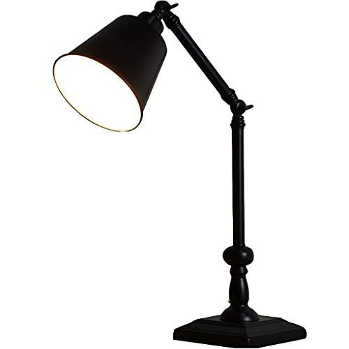 Black Minimalista Moderna Lámpara de Mesa Dormitorio Lámpara de ...