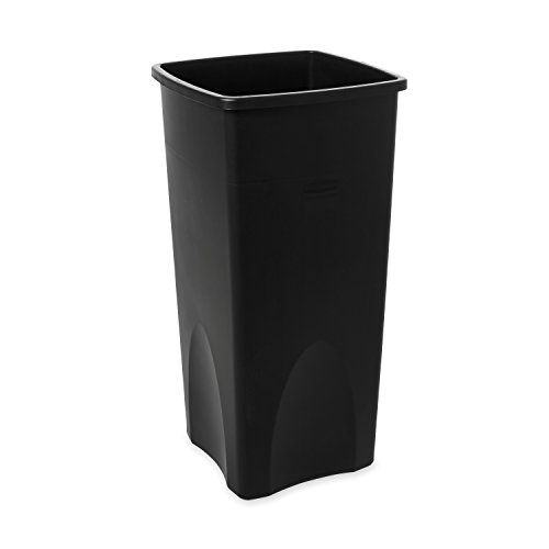 l 23gal Square Untouchable Trash Can - Black ()