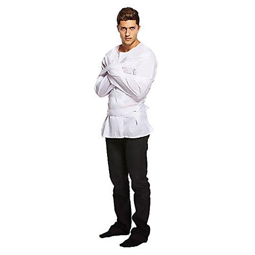 (Weiß) (Zwangsjacke Halloween Kostüm)