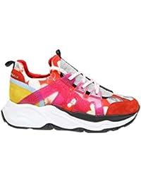Philipp Plein Mujer WSC1165PTE087N13 Rojo Cuero Zapatillas