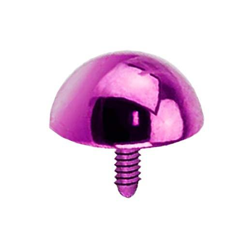 Piersando Farbige Micro Aufsatz für Dermal Anchor Piercing Hautanker Implantat Skin Diver Kugel halbrund Lila 5mm