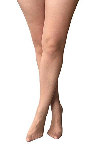 Übergröße offener Schritt Strumpfhose vollere Figur Größen: l-xxl. 2 Farben - Honigfarbene, Large (Offenen Schritt-strumpfhosen)