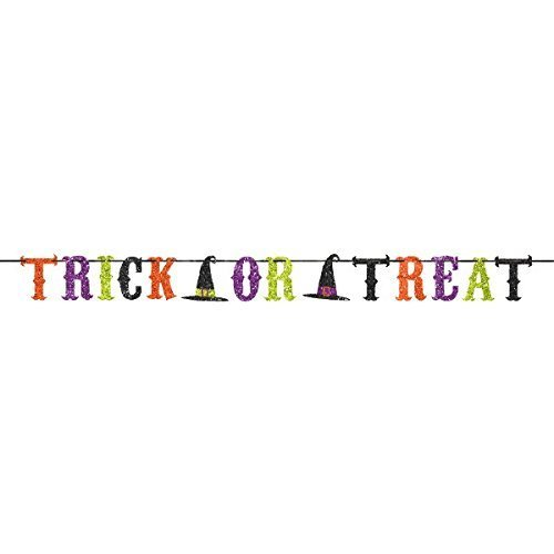 tch Party TRICK OR TREAT Ribbon Banner Garland Decoration by Halloween (Trick Or Treat-banner)