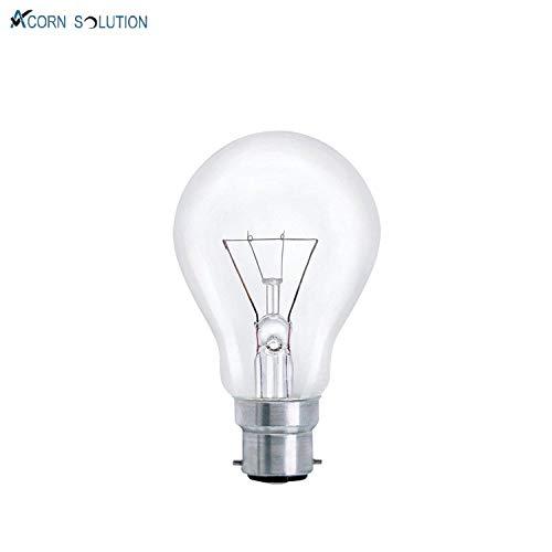 Acorn Glühbirne klar, 60W, Bajonett-Sockel BC22, GLS, 10Stück (Bajonett-sockel)