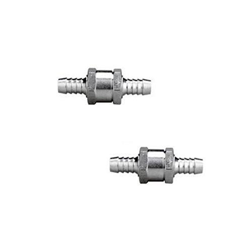 Preisvergleich Produktbild MagiDeal 2 Stück 6mm Rückschlagkraftstoffleitung Öl Benzin Diesel Pflanzenöl Druckluft Rückschlagventil