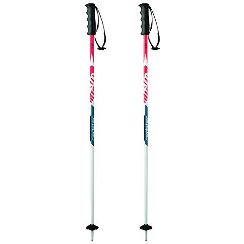 Atomic 1 Paar All Mountain Rennlauf-Skistöcke, Mädchen und Jungen, 90 cm, Aluminium, Redster 10 Jr, AJ5005318090, Rot/Blau