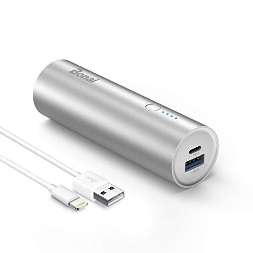 BONAI Powerbank 5800mAh Externer Akku,Handy Power Pack Phone Ladegerät für iPhone Alle Serien 5/6/7/8/X,Samsung Galaxy und viele mehr-Silber (Akku Pack Ladegerät Für Iphone 6)
