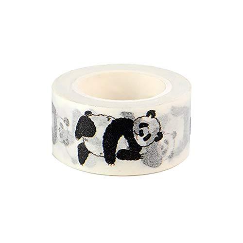 Hacoly Deko Klebeband Papier Klebriger Masking Tape Panda DIY Aufkleber Band Deko Klebeband Selbstklebend Dekoband für Scrapbooking Kunst Handwerk Büro Party Supplies