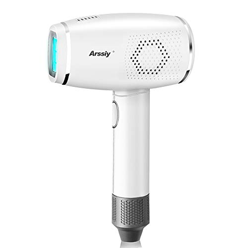 Arssiy Permanent Haarentfernungsgerät für Frauen & Männer IPL Schmerzlose Laser-Haarentferner für Gesicht und Körper Cold Compress 400.000 blinkt