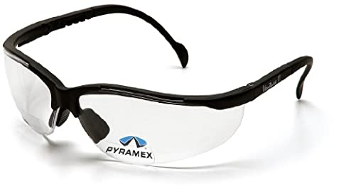 Pyramex Safety V2 Readers SB1810R30 stabile und leichte Schutzbrille mit integrierter Lesebrille / Weitsichtstärke +3.0 / leichter Tragekomfort / farblose