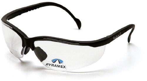 Pyramex Safety V2 Readers SB1810R15 stabile Schutzbrille mit integrierter Lesebrille/Weitsichtstärke +1.5/besonders leichter Tragekomfort/farblose Gläser (Integrierte Glas)