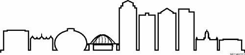 INDIGOS UG - Wandtattoo Wandsticker Wandaufkleber Aufkleber - Wandaufkleber f1296 Skyline Stadt - des Moines (USA - United States) Design 4-180x41 cm - schwarz - Dekoration Küche Bad Büro Hotel (Des Moines Skyline)