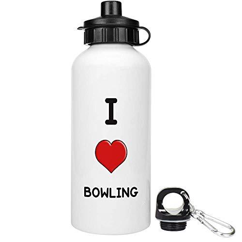 Stamp Press 600ml 'I Love Bowling' Trinkflasche / Wasser-Flasche (WT00001134)