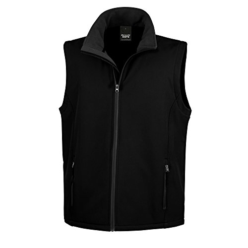 Result Core Herren Softshell Bodywarmer / Gilet (Medium) (Schwarz/Schwarz)