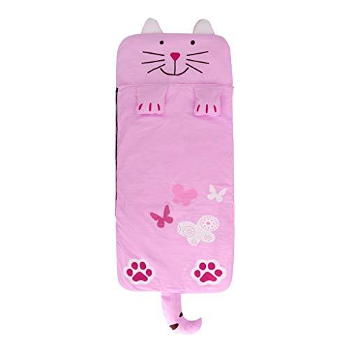 Fenteer Sac de Couchage Coton Impression Nid d'ange pour enfant bébé sieste maternelle préscolaire tapis - Chat, 130x59cm