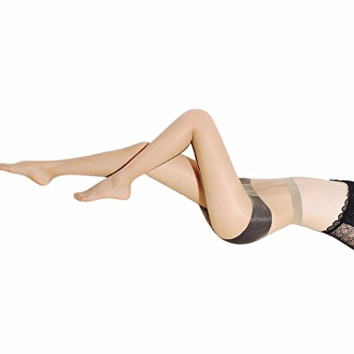 Strumpfhosen CLOOM Frauen overknee Strümpfe Damen Strickstrumpfhose Strumpf Vintage Strapsstrümpfe Leggings Mode elastische Oberschenkel Pantyhose strapsstrümpfe netz (Beige, ONE SIZE) (Lace Leggings Nylon)