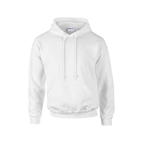Gildan Heavyweight DryBlend Unisex Kapuzenpullover / Hoodie / Kapuzensweater S,Weiß - Gildan Hoodie Sweatshirt