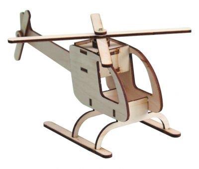 Rettungshubschrauber aus Holz Bausatz und Lernspielzeug K80295 Bausatz für Kinder und Jugendliche