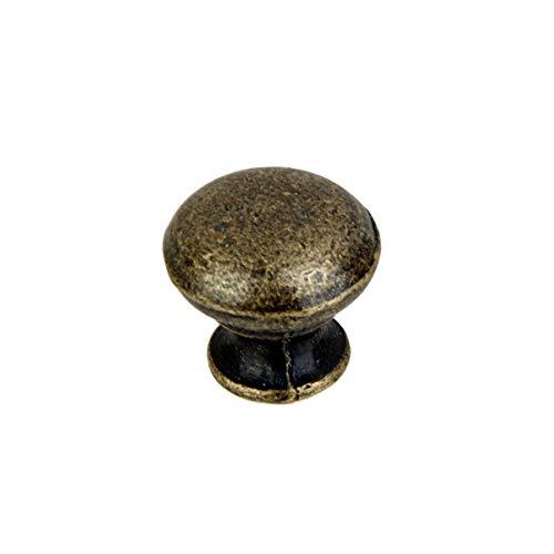 6 X vintage Antike Messing Runden Möbelgriff Schrankgriff Möbelknopf Knopf Tür Schublade Kommode Schrank Ziehgriff - Runde Antik