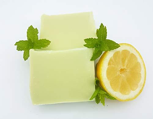 Minze Zitrone Seife, Duftseife, vegan, ohne Palmöl, handgemachte Naturseife von kleine Auszeit Manufaktur - Zitrone Natürliche Seife