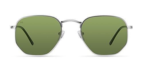 Meller Eyasi Silver Olive - UV400 Polarisiert Unisex Sonnenbrillen