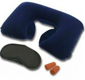 Imprexo Wsd Multi Utility Travel Kit - Inflatable Neck Air Cushion Pillow With Eye Mask & 2 Ear Plugs( Colours As Per Availability)