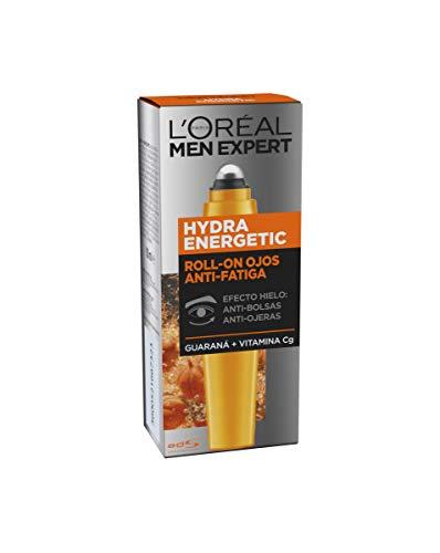 L'Oréal Paris Men Expert Roll-on Ojos Efecto Hielo Anti Bolsas y Ojeras Hydra Energetic para Hombre - 10 ml