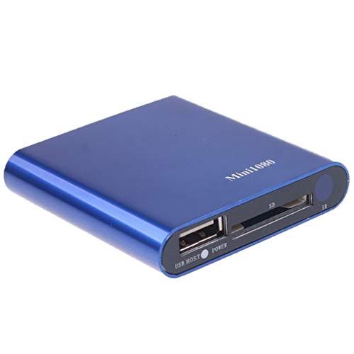 Pandiki Media Player Full HD 1080P USBExternal Media Player HD SD Media Box Unterstützung MKV AVI TS/TP HDD Player EU-Stecker (Speichergerät Sd-karte)
