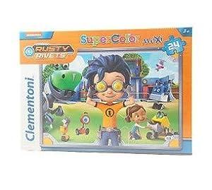 Clementoni 24062-Rusty Rivets Maxi Puzzle, 24Piezas