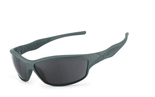 Helly® - No.1 Bikereyes®   H-FLEX®- unzerbrechlich, UV400 Schutzfilter, HLT® Kunststoff-Sicherheitsglas nach DIN EN 166   Bikerbrille   Brillengestell: grau matt, Brille: fender 2.0
