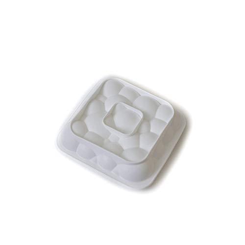 (NaiCasy 1 Stück 3D Blasen Sky Cloud Silikon Backform Backform Mousse Chiffon Gebäck Kuchen DIY Backformen (weiße Farbe))