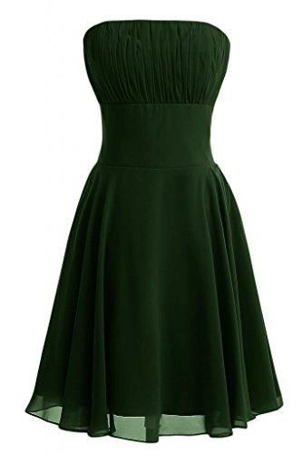 Sunvary donna A-Line senza spalline abiti da damigella d'onore, in Chiffon, colore: tè Verde scuro
