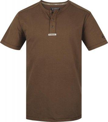 """T-shirt da uomo BUSHMAN """"Harvard"""" 111154 e per il tempo libero, Offroad, blyco, cotone, Polo, Logo Marrone scuro M"""
