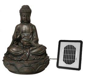 "Solarbetriebener Buddha-Brunnen \""Ariya\"" H39cm"