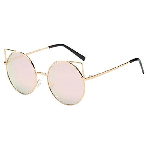 SANFASHION Männer Frauen Unisex Mode Chic Cat Eyes Shades Acetat Rahmen UV Gläser Sonnenbrille (D)