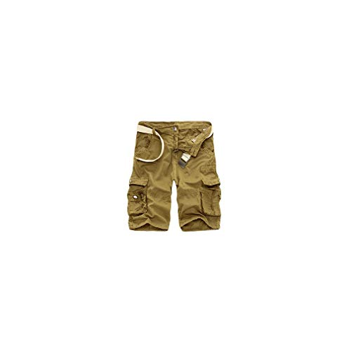 Camo Military Bermuda Summer Camouflage Cargo Men Cotton Loose Outwear Tactical Short Pants No Belt -